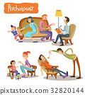 A set of vector cartoon illustrations the patient 32820144