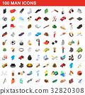 100, man, icons 32820308