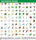 100, earth, icon 32820444