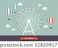 Ferris wheel vector illustration 32820917