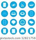 Stadium icon blue 32821756