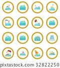 Water sport cartoon icon circle 32822250