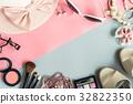 women cosmetics and fashion items 32822350