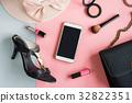 women cosmetics and fashion items 32822351