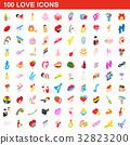 100 love icons 32823200