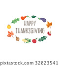 Vector happy thanksgiving card template isolated 32823541