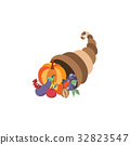 horn, vector, cornucopia 32823547