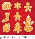 gingerbread, cookie, vector 32823612