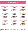 Woman eyes makeup set 32823667