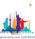 Travel the Americas paper cut world monuments 32824626