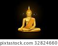 thai art buddha and pattern 32824660