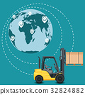 Global network of commercial warehouse 32824882