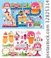 Set vector illustration business selling different 32825314
