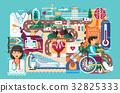 Vector illustration medicine health care of 32825333