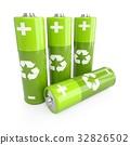 green, batteries, 3d 32826502
