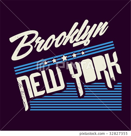 graphic BROOKLYN for shirt and print 32827355