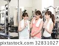 健身館 一個年輕成年女性 女生 32831027