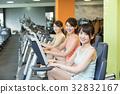 fitness, gym, female 32832167