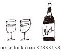 vino, wein, water 32833158