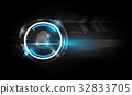 Fingerprint scan futuristic Technology background 32833705