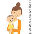 엄마와 아기 32836634