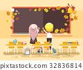back, cartoon, illustration 32836814
