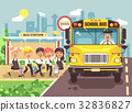 Vector illustration back to school cartoon 32836827