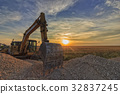 excavator in construction site  32837245