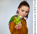 woman, bird, female 32837319