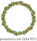 wreath, christmas, holly 32837675