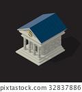Vector illustration of bank building 32837886
