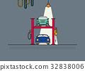 Auto service garage 32838006