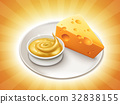 Cheese sauce and cheddar 32838155