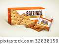 Cheese saltines package design 32838159