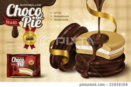 Marshmallow chocolate pie ad 32838168