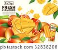 Fresh mango ice pop ads 32838206