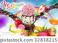 Colorful ice cream cone ads 32838215