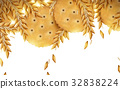 Round cracker and wheat background 32838224