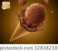3d illustration cocoa 32838238