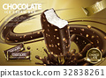 Chocolate ice cream bar ads 32838261