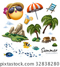 Summer design elements collection 32838280