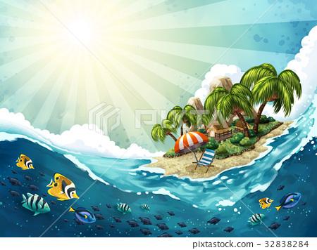 Summer Island Trip background 32838284