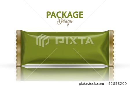 Blank foil package design 32838290