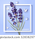Lavender flower design 32838297