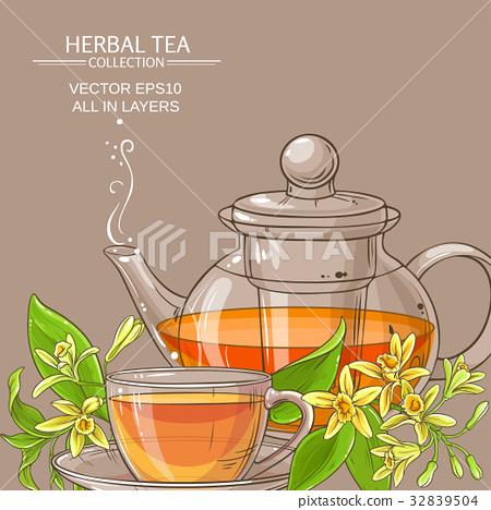 vanilla tea illustration 32839504