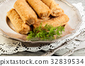 Delicious croquettes with meat on a plate 32839534