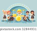 band illustration music 32844931