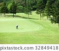 golf course, fairway, bunker 32849418