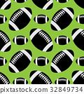 seamless pattern - black american football balls 32849734