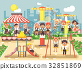 Vector illustration of cartoon characters children 32851869